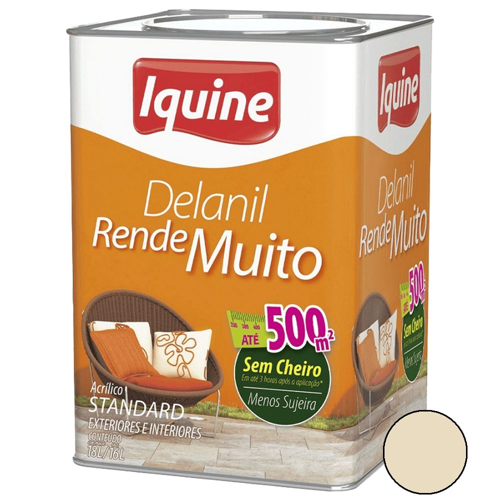 Delanil Acrílico Fosco 18L Palha Iquine