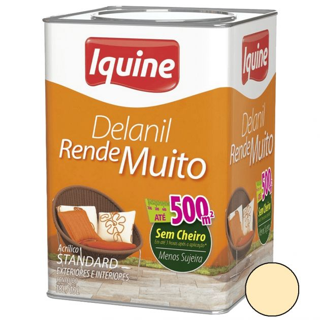 Delanil Acrílico Fosco 18L Pérola Iquine