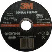 Disco Corte Desbaste Uso Geral 24 180x6.4x22.2 3M