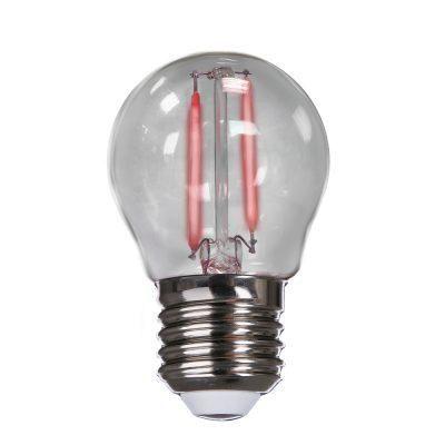 Lâmpada Led Bolinha Filamento E27 2w Biv Vermelha Avant