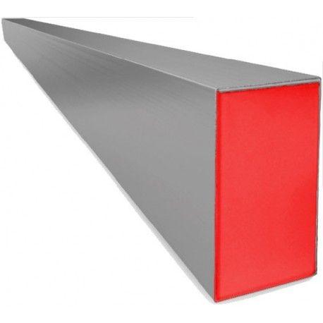 Régua Bi-Tubular Reforçada 2M Vermelha Novo Horizonte